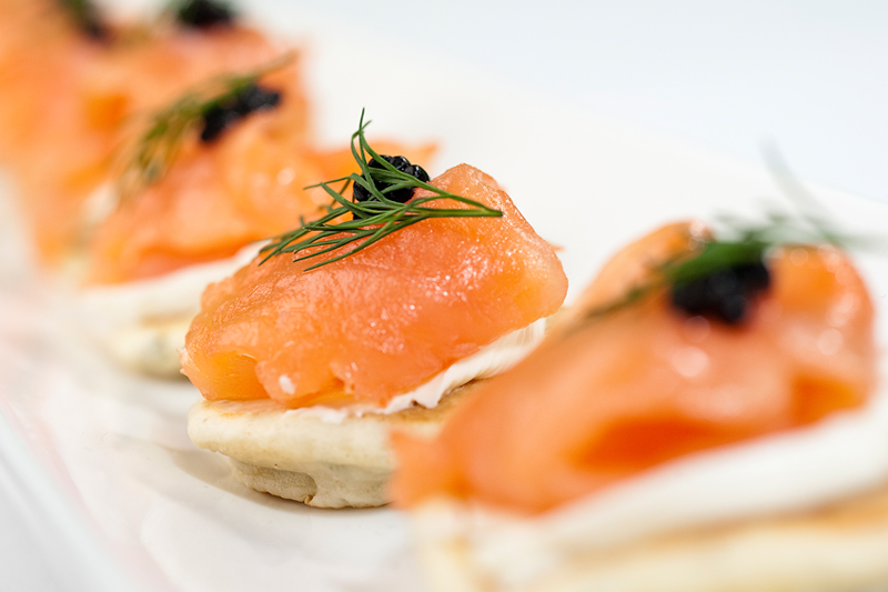 Careys funeral caterers in beckenham for Cold canape menu
